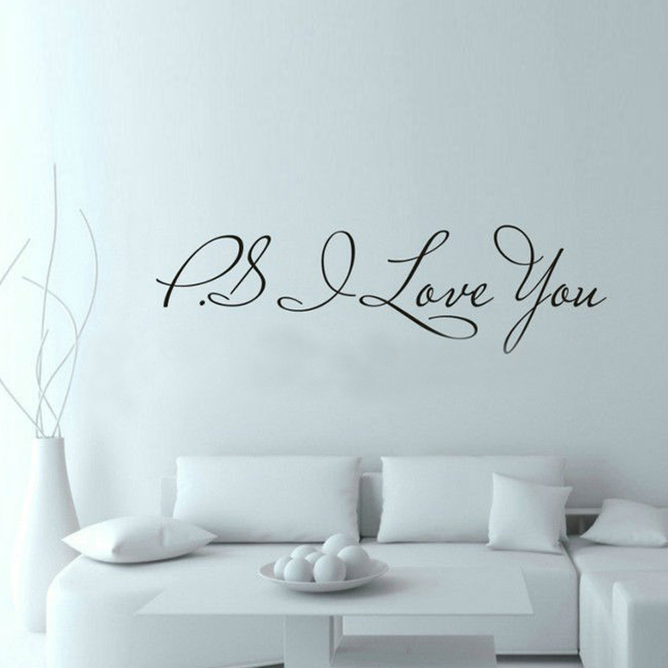 PS I Love You Wall Art Decal Home Decor Famous Inspirational Quotes