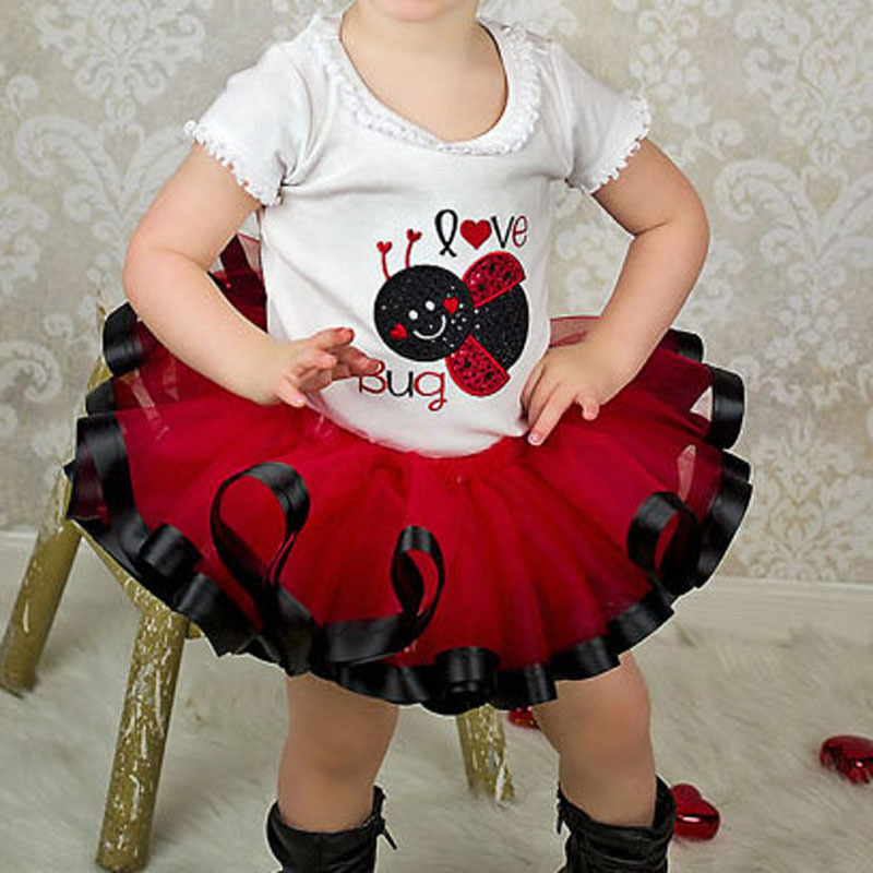 Гаджет  Baby Girl Red And Black Ribbon Trim Tutu Pageant Girl Photo Prop Tutu Skirts For Birthday Retail And Free Shipping None Детские товары