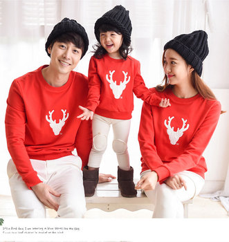 Casual Family Clothing Christmas Deer Tops Mother/Mom and Daughter Clothes Father Son Matching Clothing Family Style Set HP23