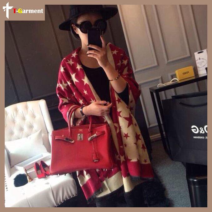 2015 Fashion women scarf bufandas wool imitation cashmere scarf The stars shawls Acrylic casual scarves female echarpe FYR06(China (Mainland))