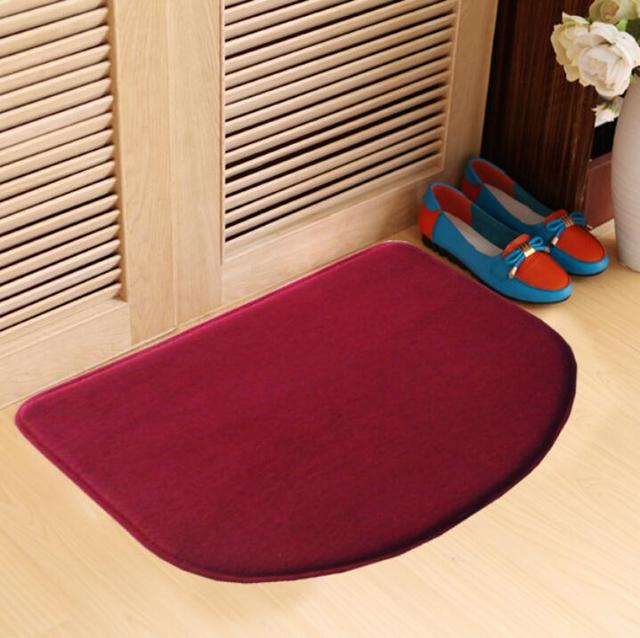 Coral fleece carpet area rug for bathroom kitchen carpets for Fleece tapete