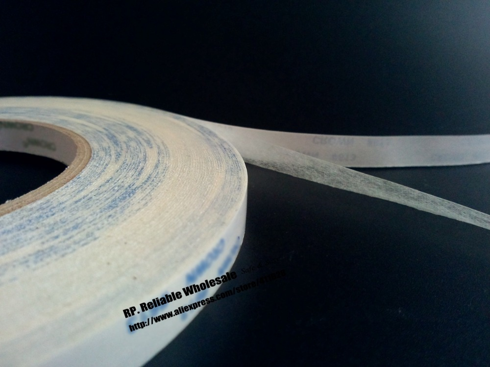 2 Rolls (20mm*50M) Translucent Double Adhesive Non-woven Tape for Advertiser, Poster, Arc Surface, Electrial Panel Label Bond(China (Mainland))