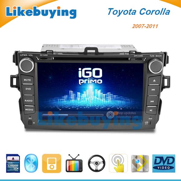 2 din 8 Inch Car DVD GPS Navigation Toyota Corolla 2007 2008 2009 2010 2011 Radio FREE 8G Map SD Card - Shenzhen Being Lucky Trading Co.,Ltd store