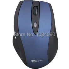 Fashion 2 color 2.4GHz USB Optical 6key Wireless Mouse USB Receiver Mice Cordless Game Computer PC Laptop Desktop blue(China (Mainland))