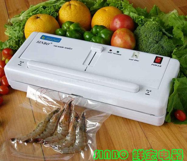 Home Electric Vacuum Food Sealer Heat Sealing Machine Household Packing Sealers Food Saver Preserver(China (Mainland))