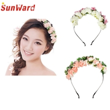 Buy Amazing Korean Style Women Hairbands Flower Floral Bridal Hair Accessories Bride Hair Wreath Wedding Ornaments for $1.32 in AliExpress store