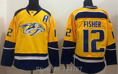 Cheap 2015 Nashville Predators #12 Mike Fisher Gold Home Embroidery Mens Ice Hockey Jersey Shirt M-XXXL, Authentic Quality<br><br>Aliexpress