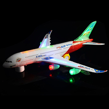 Big Guy Toy Plane 45cm Electric Toy for kids BO Plane with music light Multidirectional Electri car plane toy A380 Airplane toy(China (Mainland))