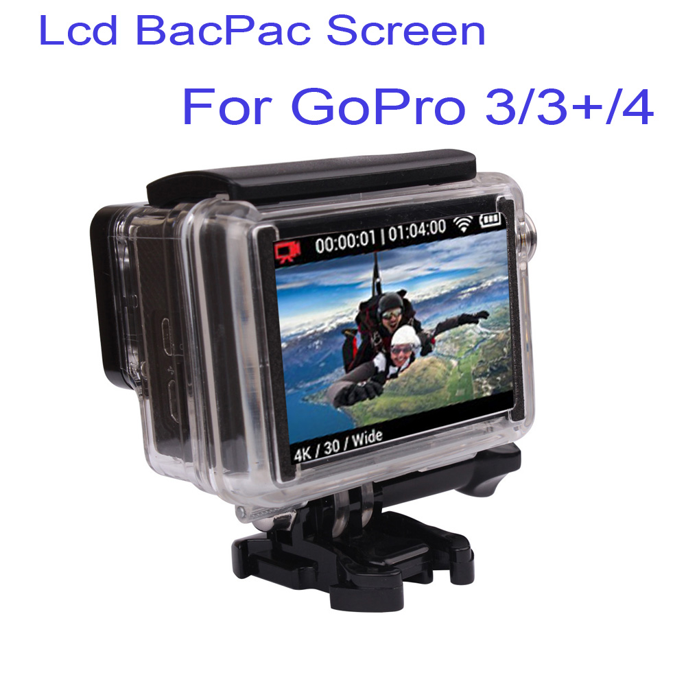 free shipping new arrival gopro hero 3 3 4 camera lcd bacpac display viewer w backdoor for. Black Bedroom Furniture Sets. Home Design Ideas