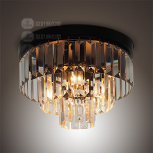 Designers of the European simple dining-room lamp lamp lighting lamp American retro Yang cake crystal ceiling lamp(China (Mainland))