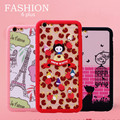 2 Frame 1 Back Cover Frosted Feel Plastic Phone Case for IPhone 6 plus Fashion Cartoon