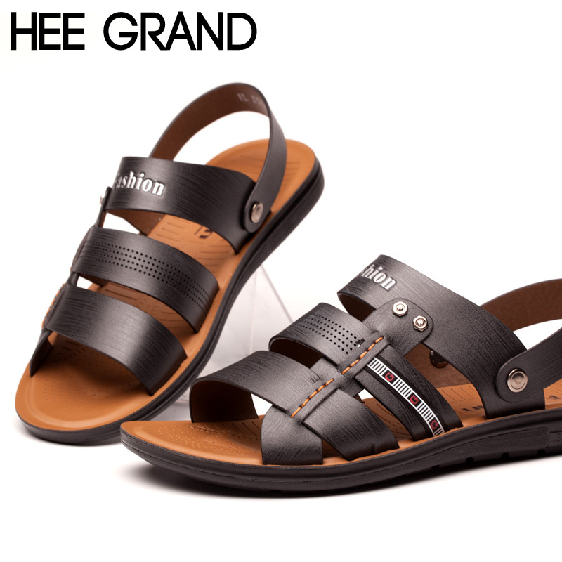 Anti Slip Comfortable Dual Use Men Sandals High Quality Casual Breathable Outdoor Flip Flops Beach Men Shoes XML089(China (Mainland))