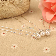 20Pcs Wedding Hair Pins Bridal Updo Diamante White Imitation Pearl Clips New High Quality