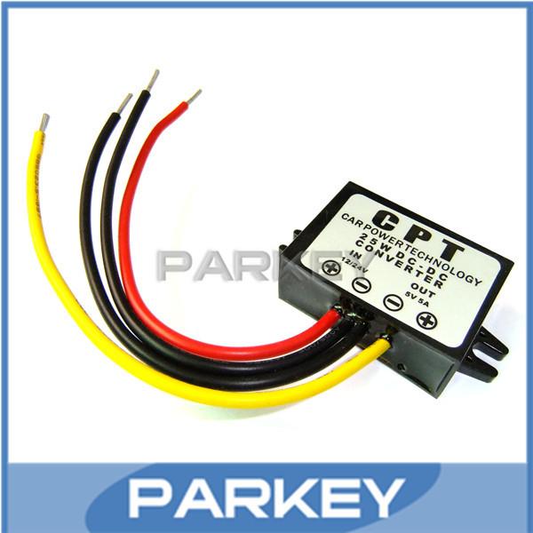 5 PCS/LOT 12V/24V to 5V 5A 25W  LED Car Power Supply DC-DC Buck Converter LED Display Power Supply Module #MD0591<br><br>Aliexpress