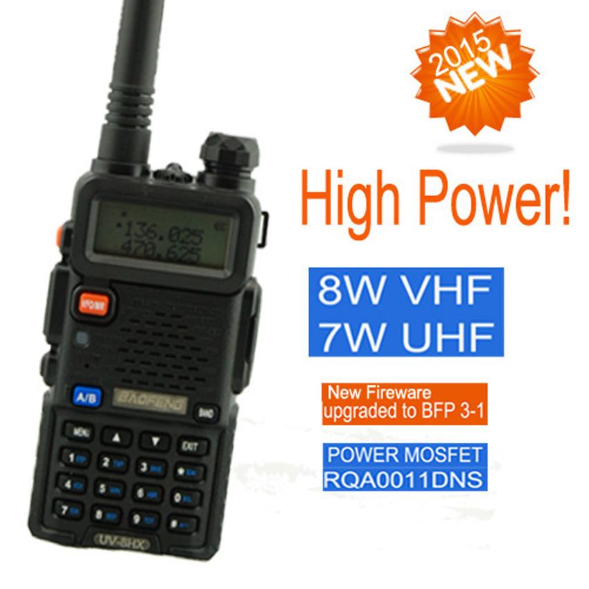 walkie talkie baofeng pofung uv 5r High power UV-8HX, bao feng 8W vhf uhf ham radio pmr walk talk sister baofeng uv-b5+antenna(China (Mainland))