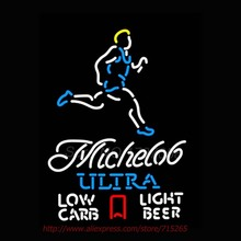 Michelobb Ultra Light Low Carb Jogger NEON SIGN Basketball Neon Bulbs Neon Light Signs Custom Real Glass Tube Recreation 28×24