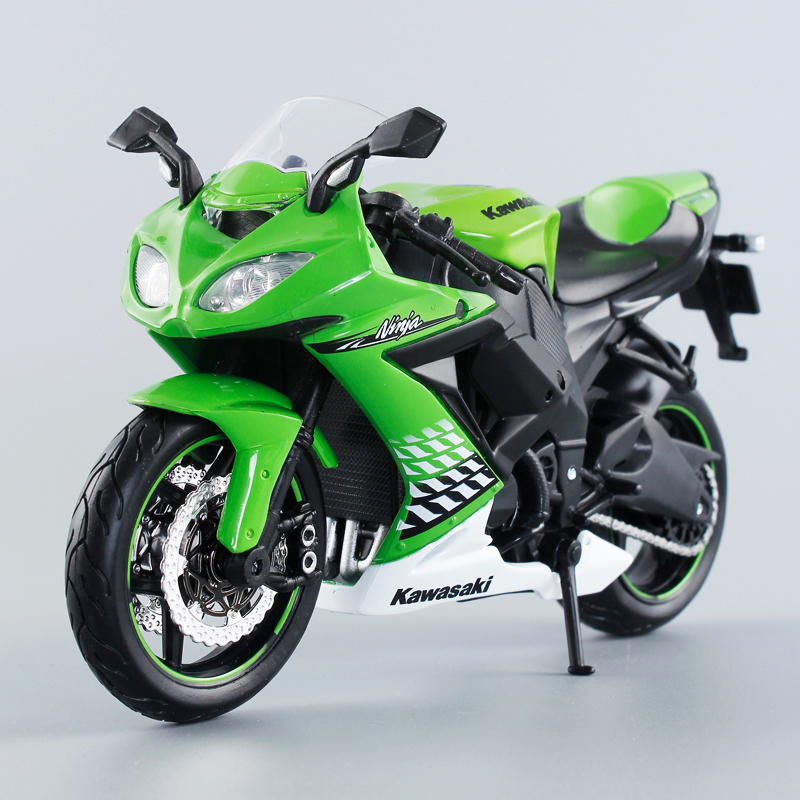 KWSK ZX-10R Ninja Green 1:12 scale models Alloy motorcycle racing model motorcycle model Toys Gift Toy motorcycle(China (Mainland))
