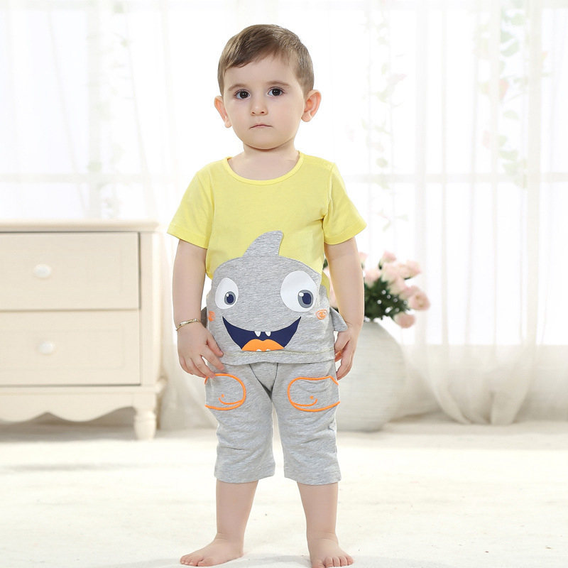 Baby boy clothes clothing style short sleeved summer baby