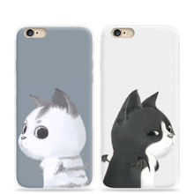 Contempt eyes cat Soft Tpu Gel Cases For Apple Iphone 6 6s Cover Silicone Rubber Phone Case For Iphone6 Protector Back Case