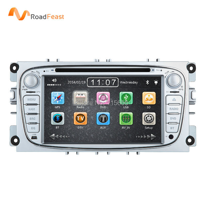 HD 7inch car dvd gps autoradio player multimedia navigation for Ford focus II 2 mondeo S-max Cmax With bluetooth 1080P Free map(China (Mainland))