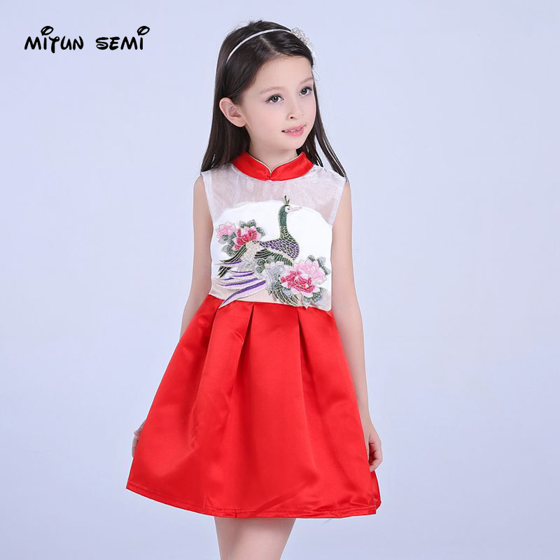 girl dress name family style wind embroidered children's dress original children's new year princess dress factory direct sales(China (Mainland))