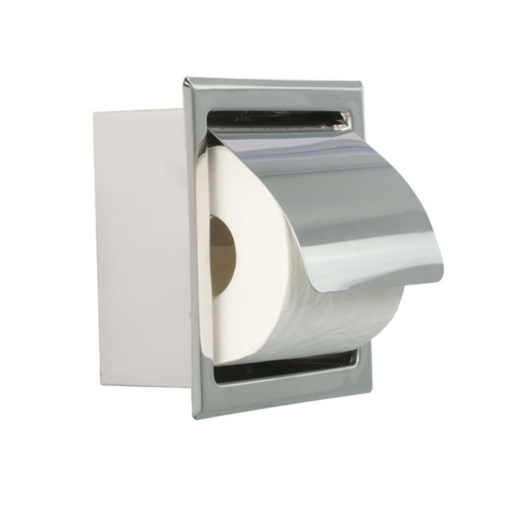 Bathroom accessory stainless steel square wall mounted tissue toilet paper holder box with cover - Tissue holder bathroom ...