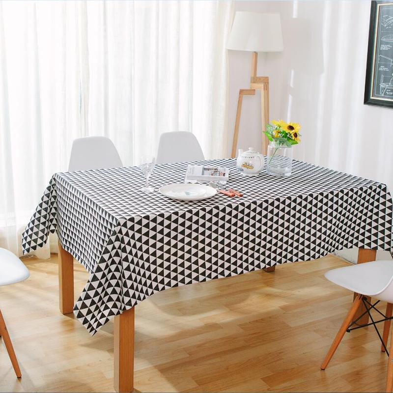 USPIRIT Black White Table Cloth Cotton Linen Table Covers Elegant Nordic Style Toalha De Mesa Decorative Furniture Covers(China (Mainland))