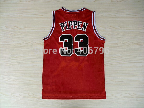 Buy Discount #33 Scottie Pippen Classical Red Basketball Jersey Stitched Logo Embroidery Sport Jersey Authentic Je(China (Mainland))