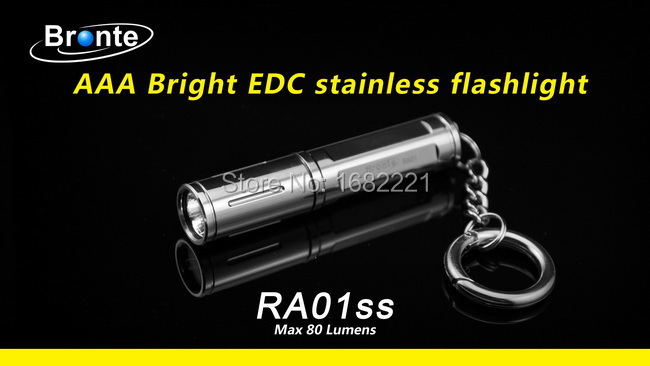 Bronte stainless steel mini flashlight exquisite XPG-R5 LED Keychain Pocket Torch 1pc AAA battery - Hunting Forest store