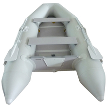 New Gray 1-5 People 1.2mm PVC 10.5' Inflatable Boat Tender Raft Dinghy With Floor(China (Mainland))