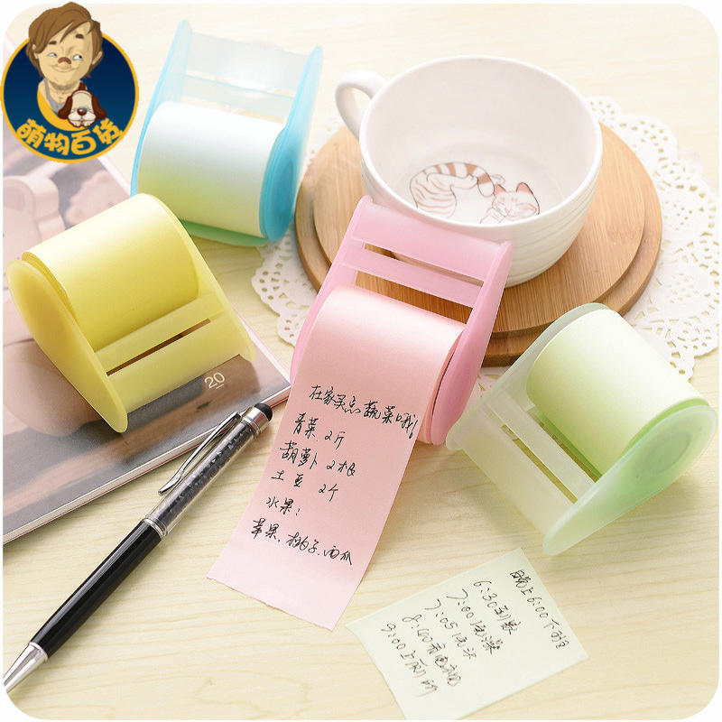 Memo Pads Belt adhesive tape holder sticky note Creative post-it notes Self Stick Notes Writing pads(China (Mainland))