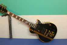 Custom Shop Black James Hetfield worn effect Electric Guitar ESP Guitars ;Case included(China (Mainland))