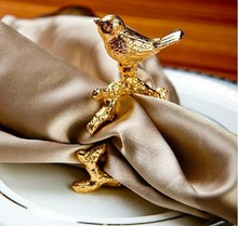 Very happy golden bird napkin buckle