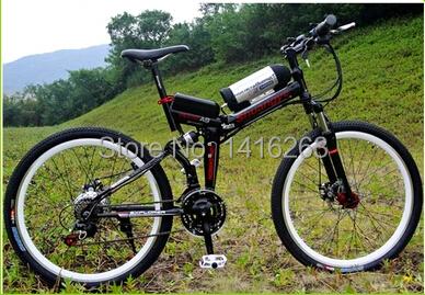 EN15194 Electric Bicycle 36v10ah 26 folding electric mountain bike 21 speed e bike