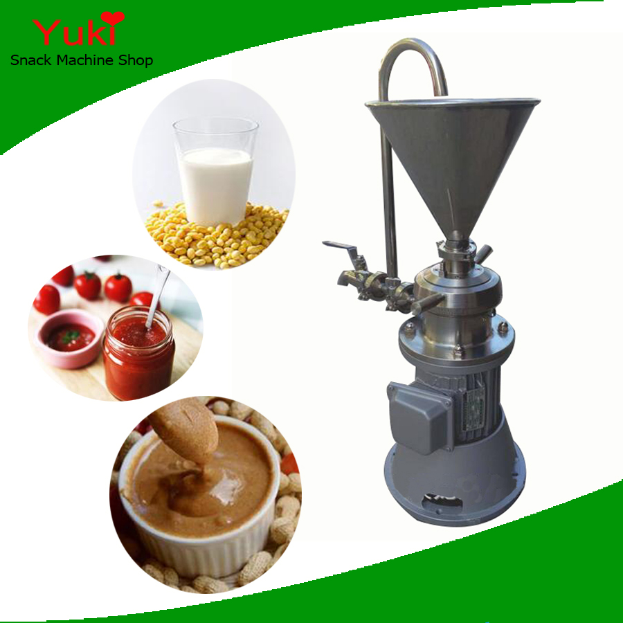 Commercial Peanut Butter Maker Multifunction Colloid Mill Tahini Machine Garlic Grinder Chili Grinder Paste Making Machine(China (Mainland))
