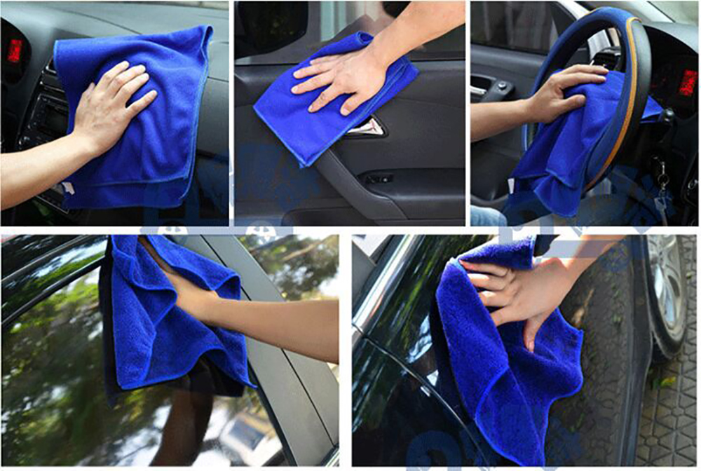 1PCS Microfiber Towel Car Dry Cleaning Absorbant Cloth 11*11CM towel duster tools washer auto supplies accessories products(China (Mainland))