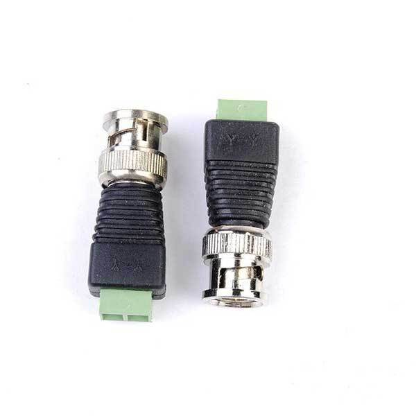 TinyGoods 2pcs Coax CAT5 BNC Video Balun Connector for Security Camera System(China (Mainland))