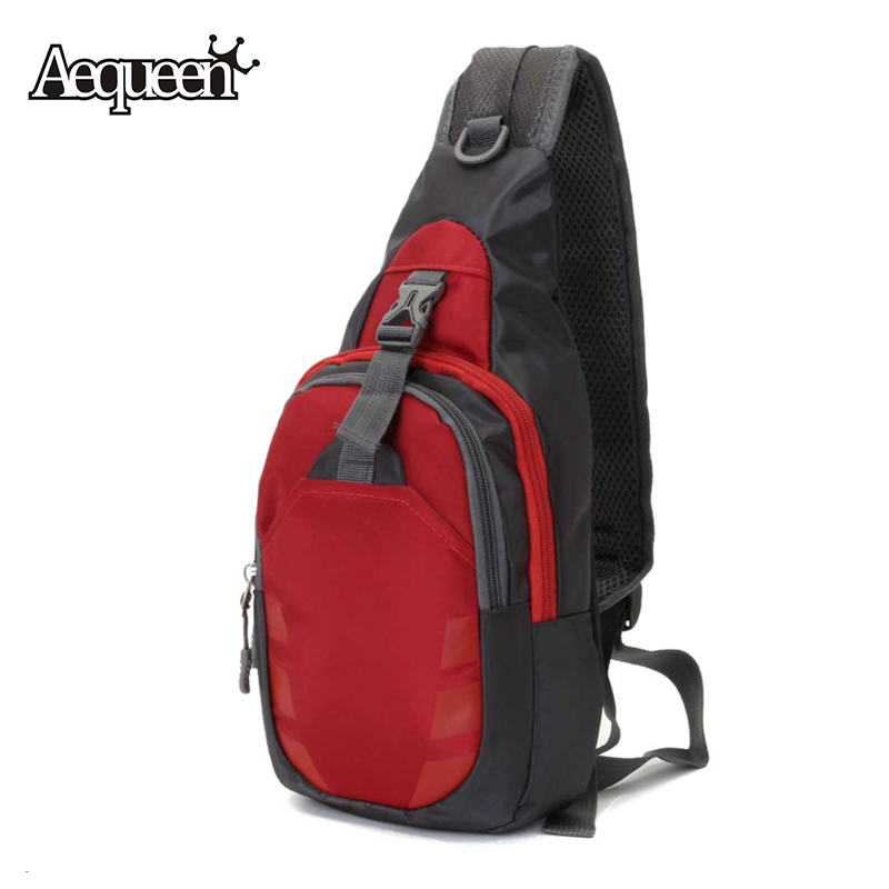 Unisex Nylon Chest Bag Back Pack Outdoor Hiking Sport Crossbody Shoulder Bags Men Women Diagonal Package Rucksacks 2016 Hot(China (Mainland))