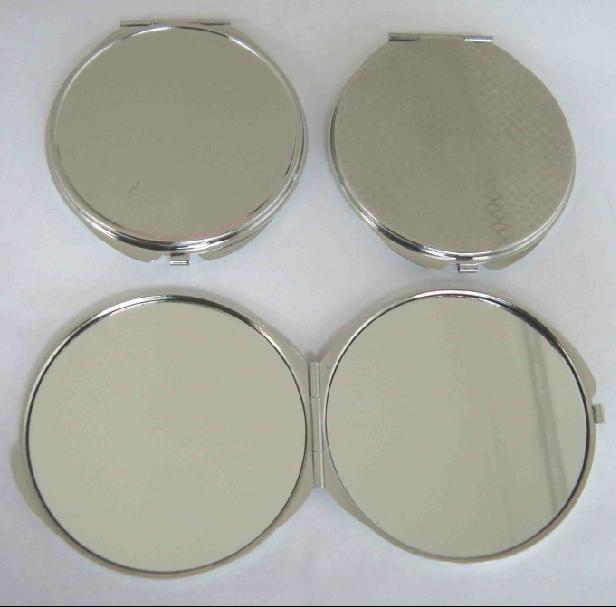 Wholesale 20pcs 70mm blank diy compact mirror diy portable for Cheap silver mirrors
