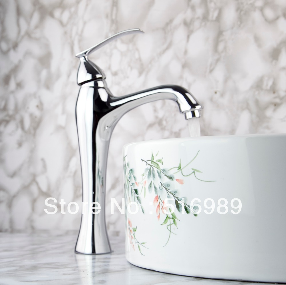 Waterfall faucets chrome brass spout Faucet basin Taps bathroom Mixers Tap n11(China (Mainland))