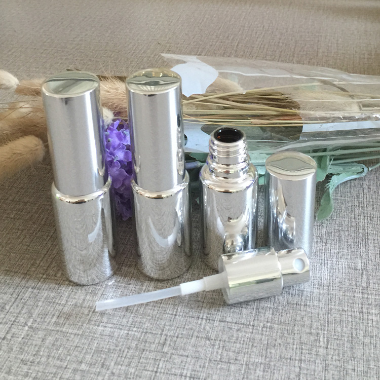15ml glass silver plated refillable empty atomiser spray perfume bottle,perfume container,perfume cosmetic packing 50pcs/lot(China (Mainland))