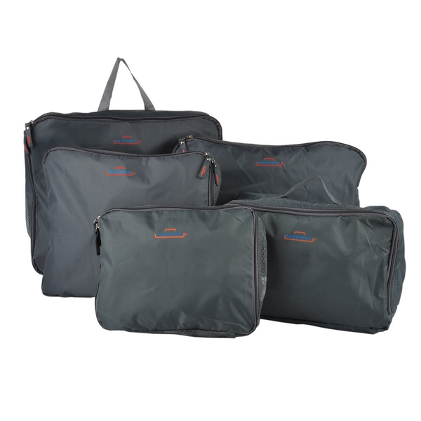 Free Shipping Fashion 5 Piece coloth home storage & organizer set bag for Traveling Bags in Bag Dark Gray(China (Mainland))