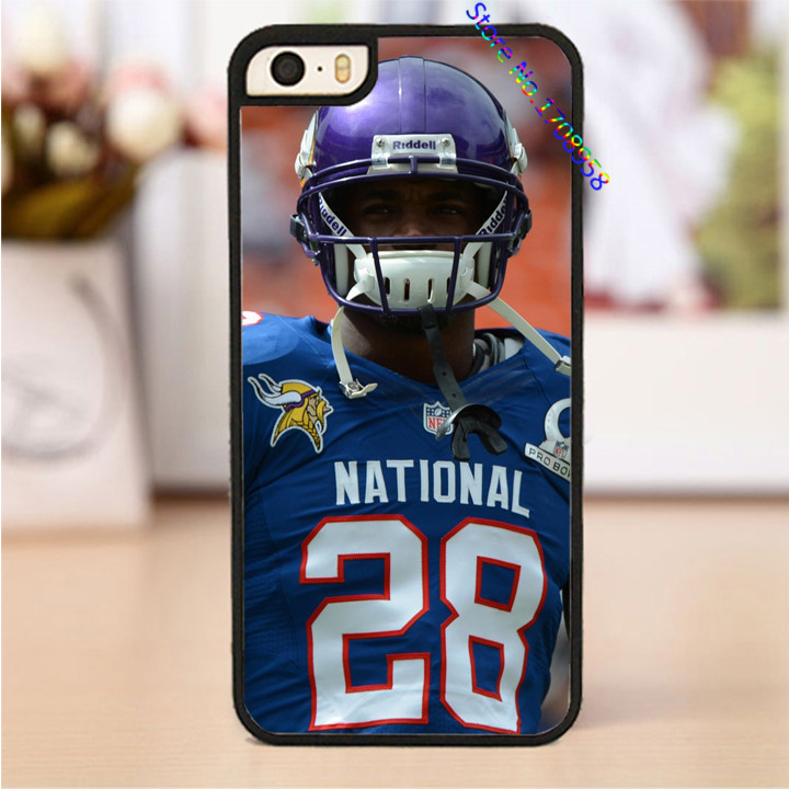 adrian peterson 2015 minnesota vikings american football cover case for iphone 4 4s 5 5s SE 5c 6 6 plus 6s 6s plus #PL0068(China (Mainland))