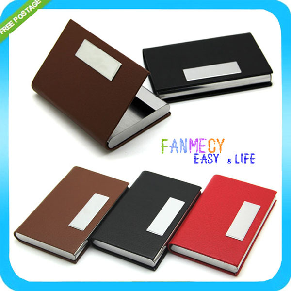 New 3 Colors Waterproof Stainless steel Magnetic Pocket Card Case Business id Credit Card Holder Porte Carte Credit Card Stock<br><br>Aliexpress