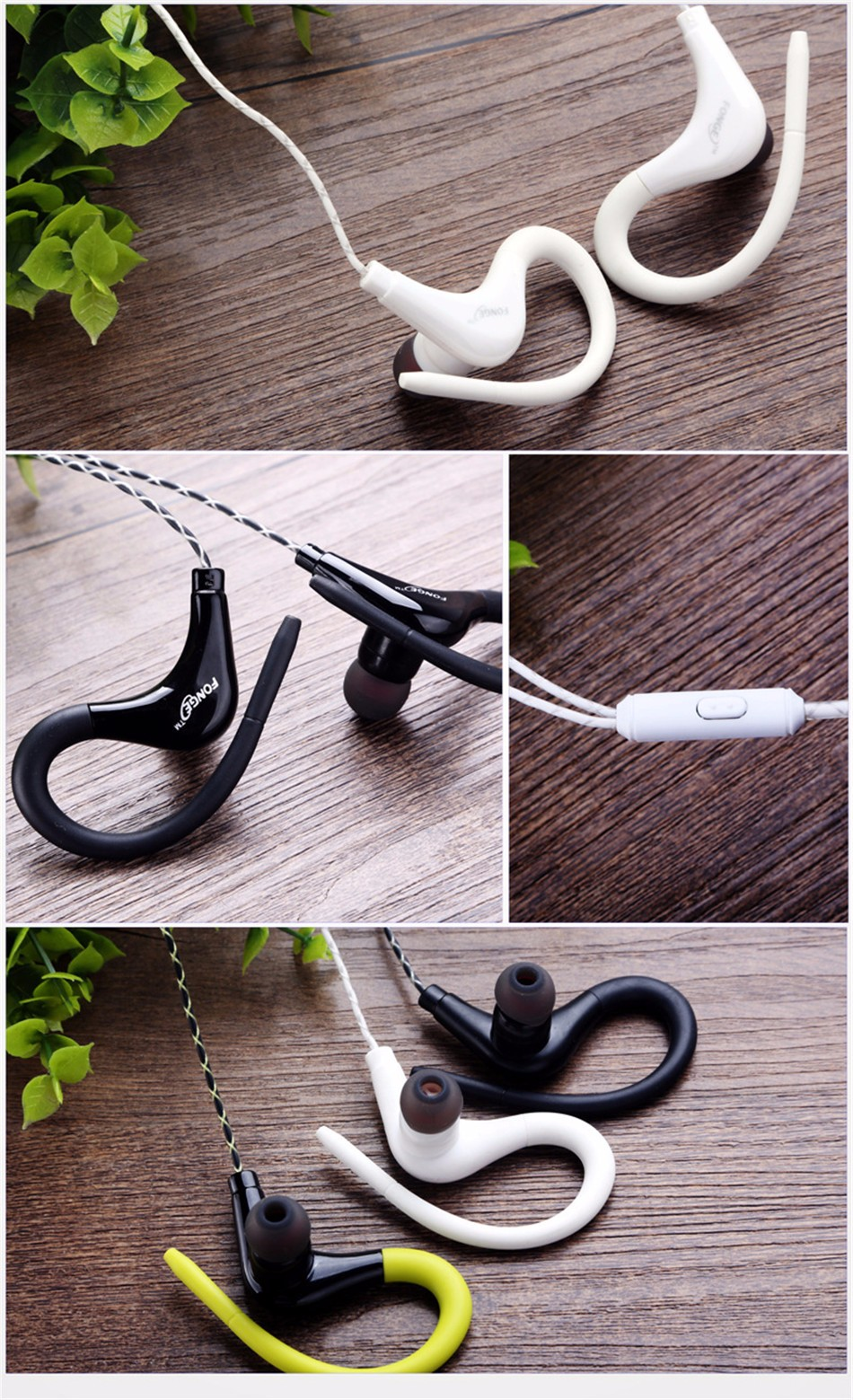 Stereo Sport Earphone Headphones handsfree In-ear Headset 3.5mm With Mic Earbuds For All Mobile Phones