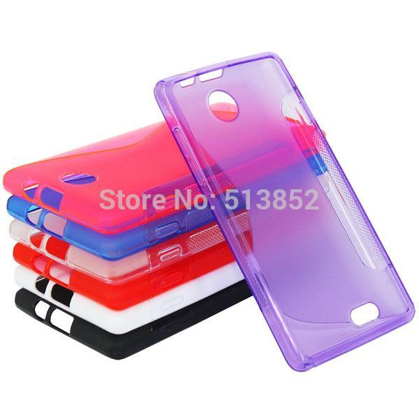 8 Colors S Line Frosed Soft TPU Skin Gel Protection Case for ZTE Blade Buzz / V815W Silicone Phone Cover(China (Mainland))