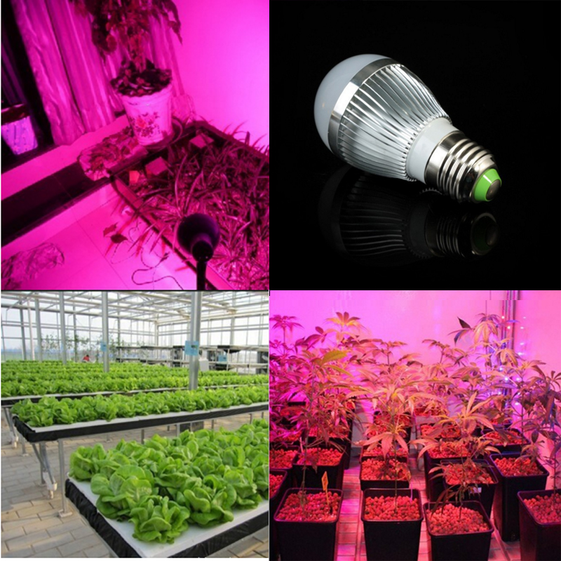 Full spectrum LED Grow lights 14W E27 LED Grow lamp bulb for Flower plant Hydroponics system AC 85V -265V grow light 1Pcs/lots<br><br>Aliexpress