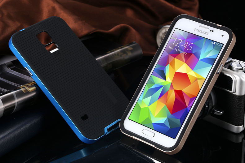 Best Seller Luxury Affordable Dual Layer Protection SGP Case For Samsung Galaxy S5 SPIGEN Back Cover Neo Hybrid SeriesYXF03864