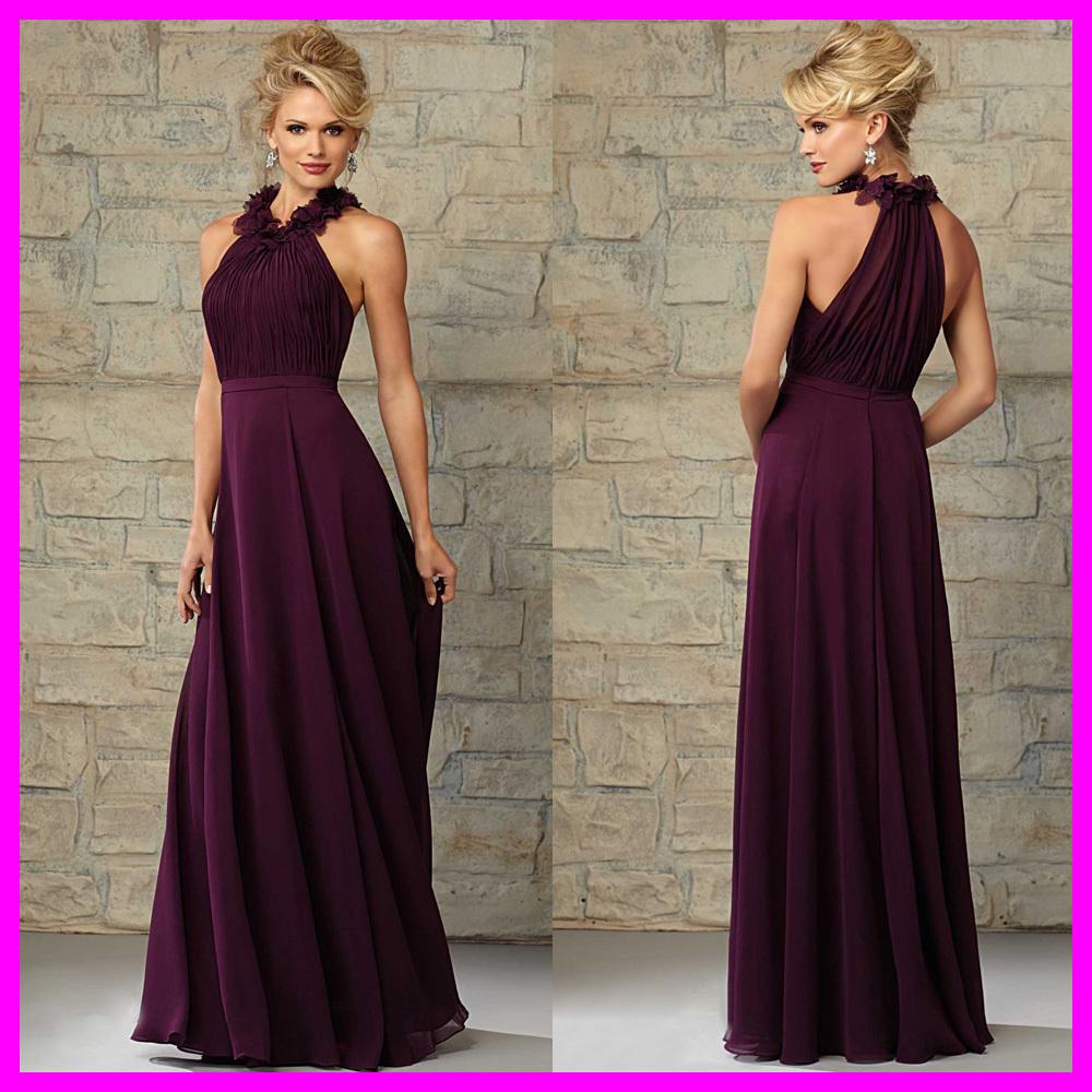 robe de madrinha plum en mousseline de soie longue de demoiselle d 39 honneur robe de mari e. Black Bedroom Furniture Sets. Home Design Ideas