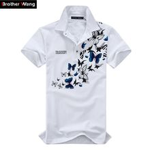 Men large size printing POLO shirt 2017 new Cotton Leisure Short sleeve summer Polo Men's fashion lapel Brand clothes 5XL 6XL(China (Mainland))